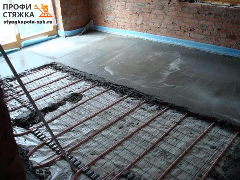 Как сделать бетонный пол в доме теплым