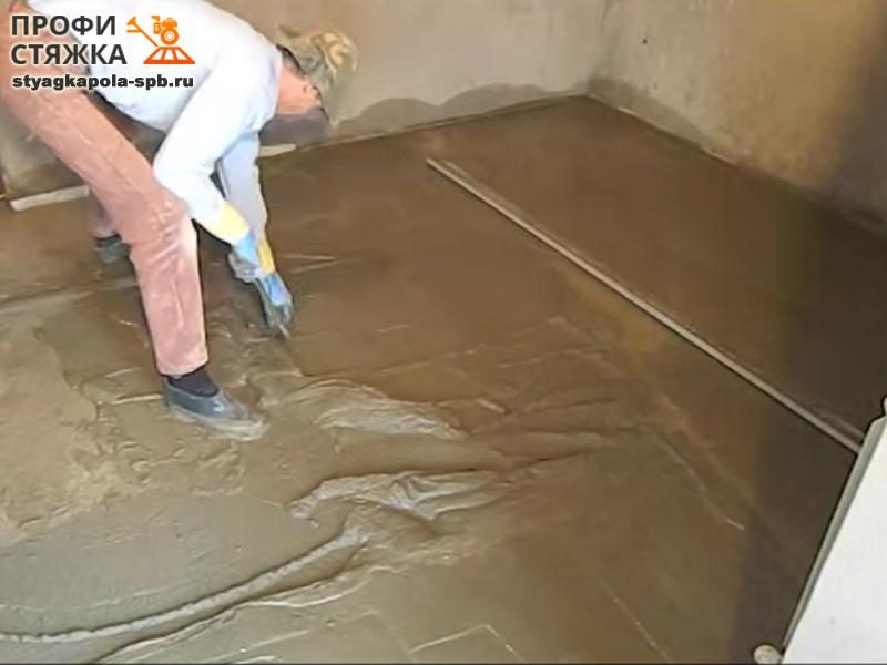 Как залить пол цементом своими руками инструкция